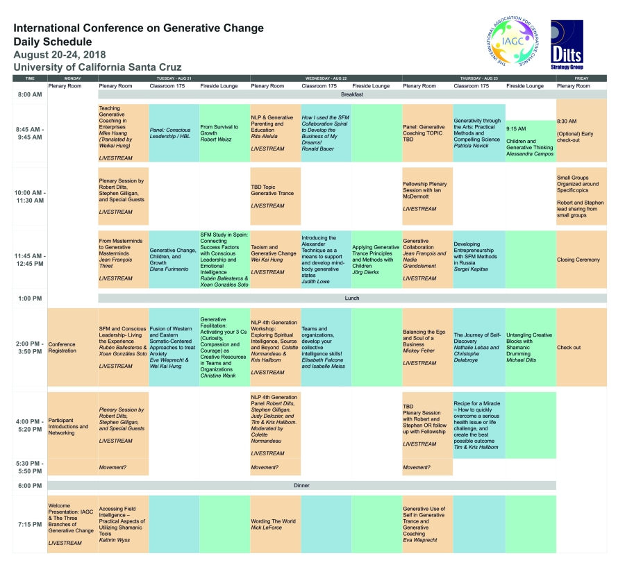 Conference SCHEDULE web
